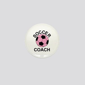 Soccer Coach Pink Mini Button