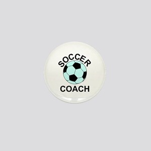Soccer Coach Blue Mini Button