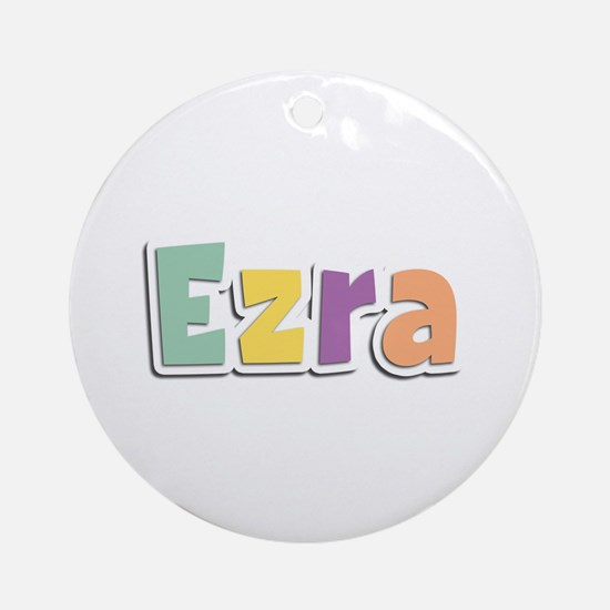 Ezra Spring14 Round Ornament