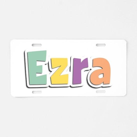 Ezra Spring14 Aluminum License Plate
