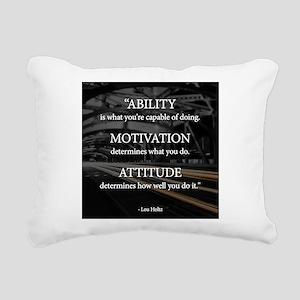 Ability Motivation Attitude Rectangular Canvas Pil