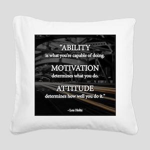Ability Motivation Attitude Square Canvas Pillow