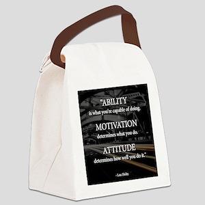Ability Motivation Attitude Canvas Lunch Bag