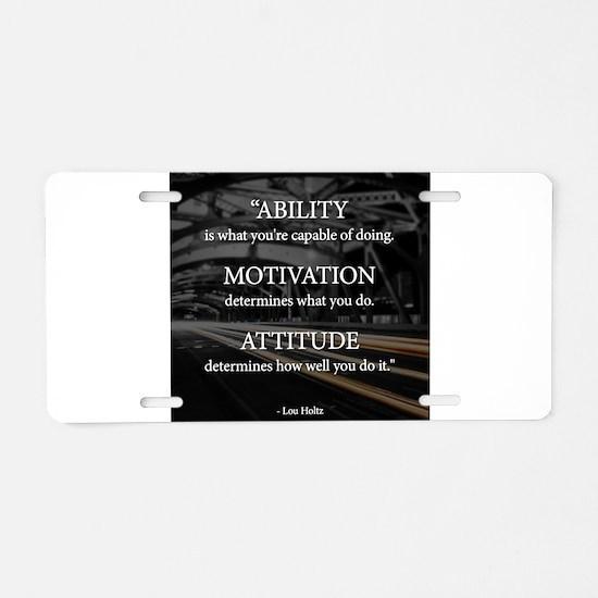 Ability Motivation Attitude Aluminum License Plate