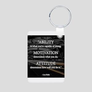 Ability Motivation Attitude Aluminum Photo Keychai