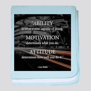 Ability Motivation Attitude baby blanket