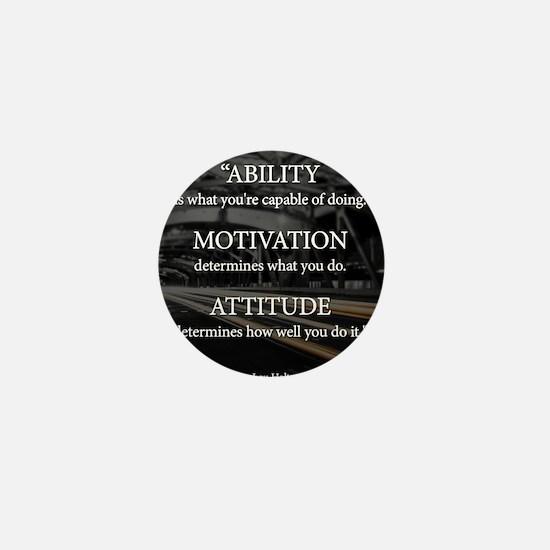Ability Motivation Attitude Mini Button