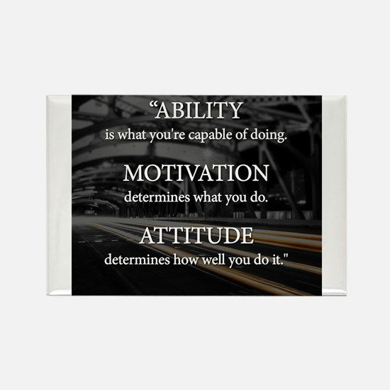 Ability Motivation Attitude Rectangle Magnet