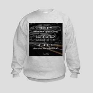 Ability Motivation Attitude Kids Sweatshirt