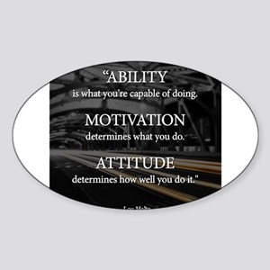 Ability Motivation Attitude Sticker (Oval)