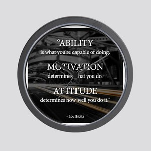 Ability Motivation Attitude Wall Clock