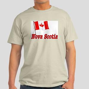 Canada Flag - Nova Scotia Text Light T-Shirt