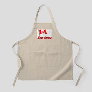 Canada Flag - Nova Scotia Text BBQ Apron