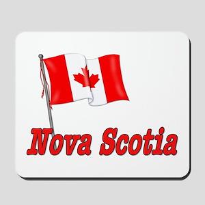 Canada Flag - Nova Scotia Text Mousepad