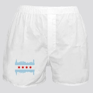 Chicago Flag Skyline Boxer Shorts