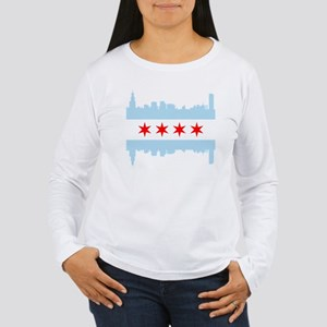 Chicago Flag Skyline Long Sleeve T-Shirt