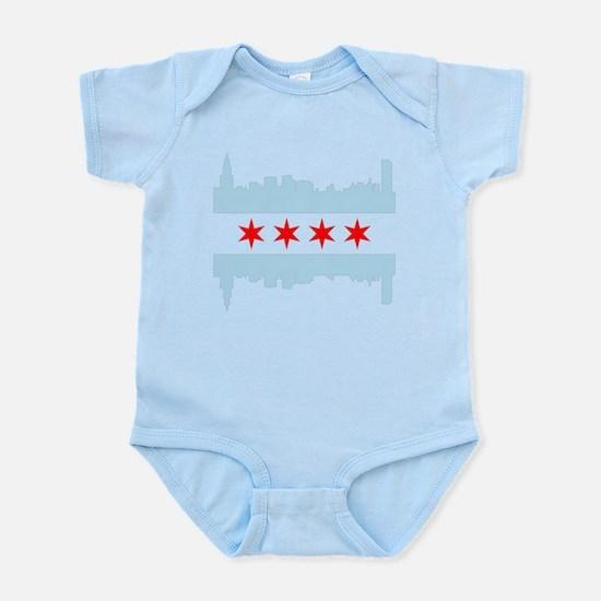 Chicago Flag Skyline Body Suit