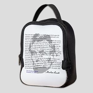 Gettysburg Address Neoprene Lunch Bag