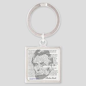 Gettysburg Address Square Keychain