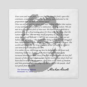 Gettysburg Address Queen Duvet
