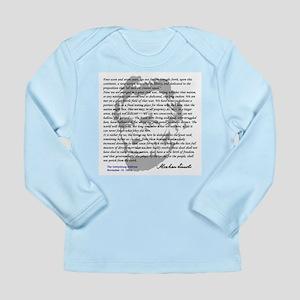 Gettysburg Address Long Sleeve Infant T-Shirt