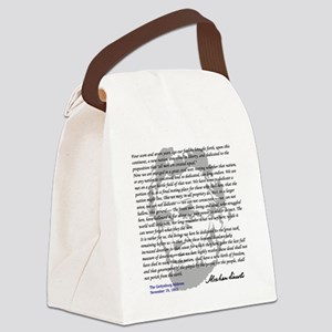 Gettysburg Address Canvas Lunch Bag