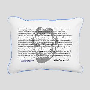 Gettysburg Address Rectangular Canvas Pillow
