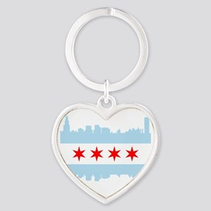 Chicago Flag Skyline Keychains