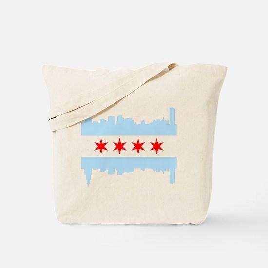 Chicago Flag Skyline Tote Bag