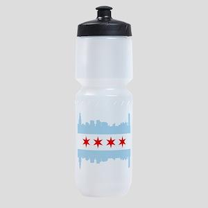 Chicago Flag Skyline Sports Bottle
