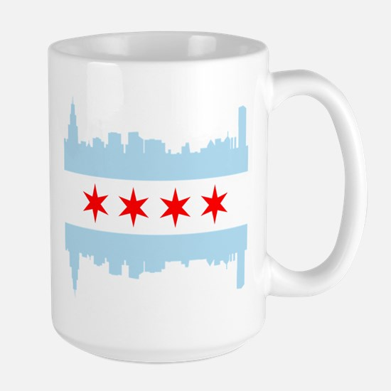 Chicago Flag Skyline Mugs