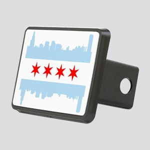 Chicago Flag Skyline Hitch Cover