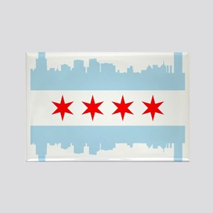 Chicago Flag Skyline Magnets