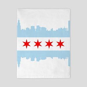 Chicago Flag Skyline Twin Duvet