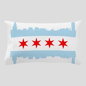 Chicago Flag Skyline Pillow Case