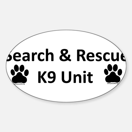 Cute Sar k9 Sticker (Oval)
