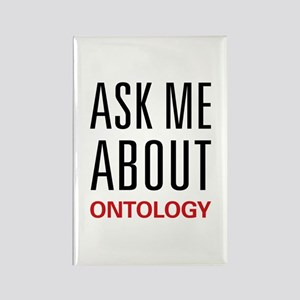 Ask Me About Ontology Rectangle Magnet