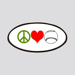 PEACE LOVE BASEBALL Patches