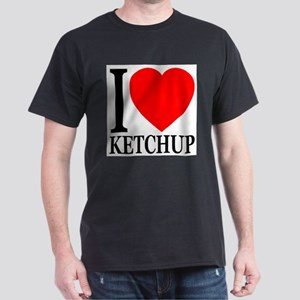 I Love Ketchup Classic Heart Dark T-Shirt