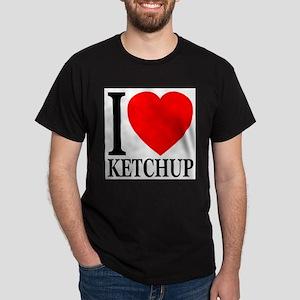 I Love Ketchup Classic Heart Dark T-Shirt
