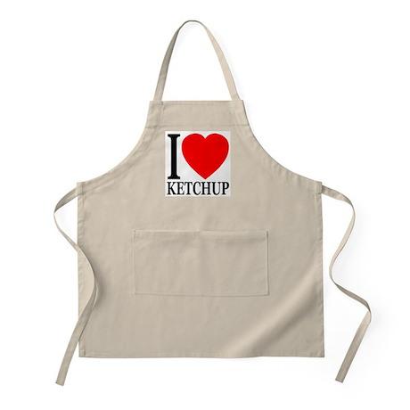 I Love Ketchup Classic Heart BBQ Apron