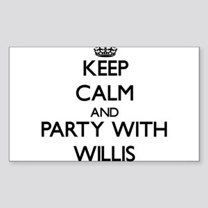 Keep calm and Party with Willis Sticker