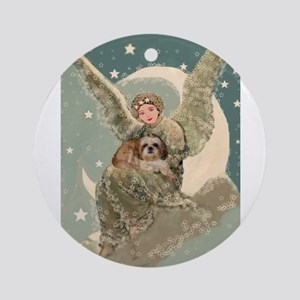 Heaven Sent Shih Tzu Ornament (Round)