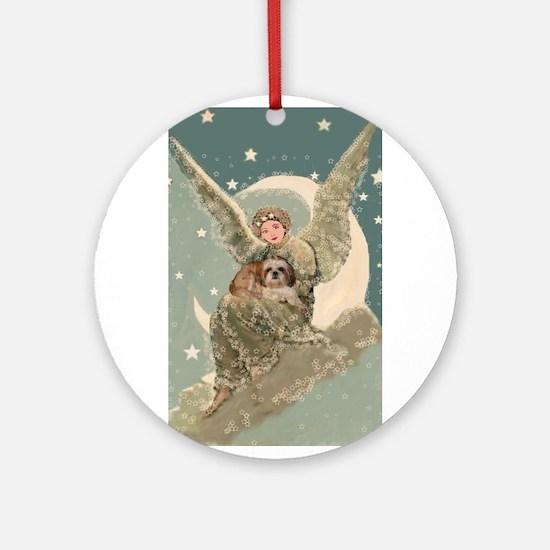 Heaven Sent Shih Tzu Ornament (Round)