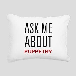 askpuppet Rectangular Canvas Pillow