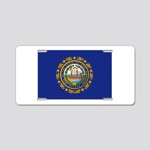 New Hampshire Flag Aluminum License Plate