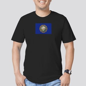 New Hampshire Flag Men's Fitted T-Shirt (dark)