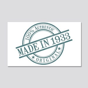 Made in 1933 20x12 Wall Decal