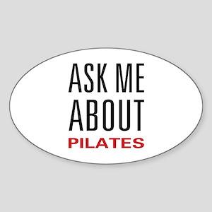 Ask Me Pilates Oval Sticker