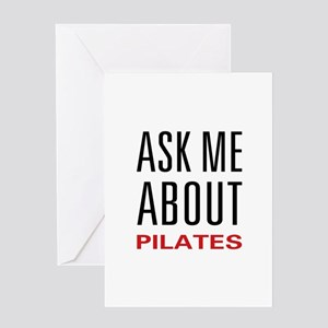 Ask Me About Pilates Greeting Card
